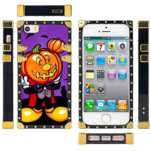 DISNEY COLLECTION iPhone 5, iPhone 5S, iPhone SE Case, Cute Free Mickey Mouse Halloween Screensaver Pattern Elegant Soft TPU Bumper Shock Protective -