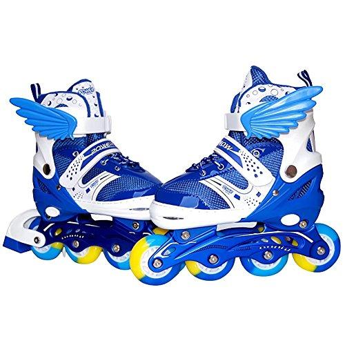 赤字にもかかわらずベーシックBurning Go インラインスケート セット ローラースケート 発光 全ウィールが光る メッシュ キッズ 子供用 大人 初心者向け ローラーシューズ スケート サイズ調整可能