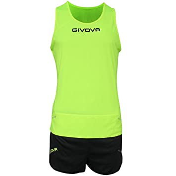 Givova, kit new york, amarillo fluo/negro, XS