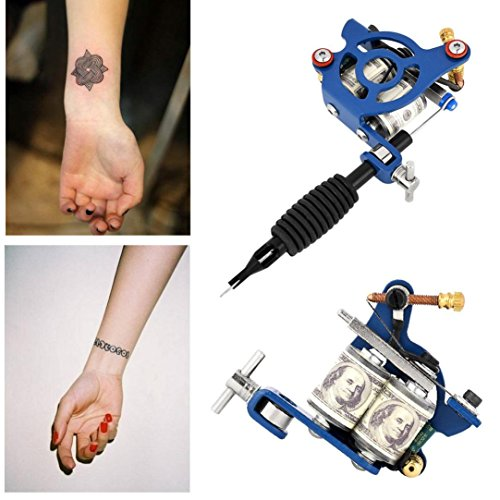 Price comparison product image Chartsea Professional Body Art Rotary Tattoo Motor Machine Shader Equipment (Blue)