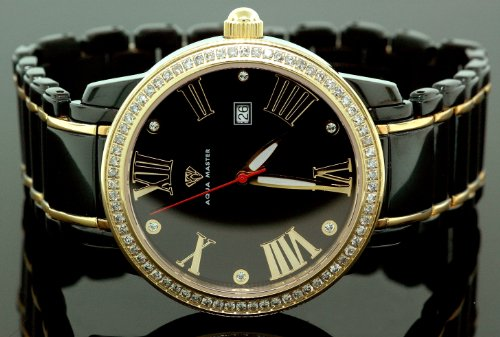 Aqua Master Mens Classic Diamond Watch W320b by Aqua Master