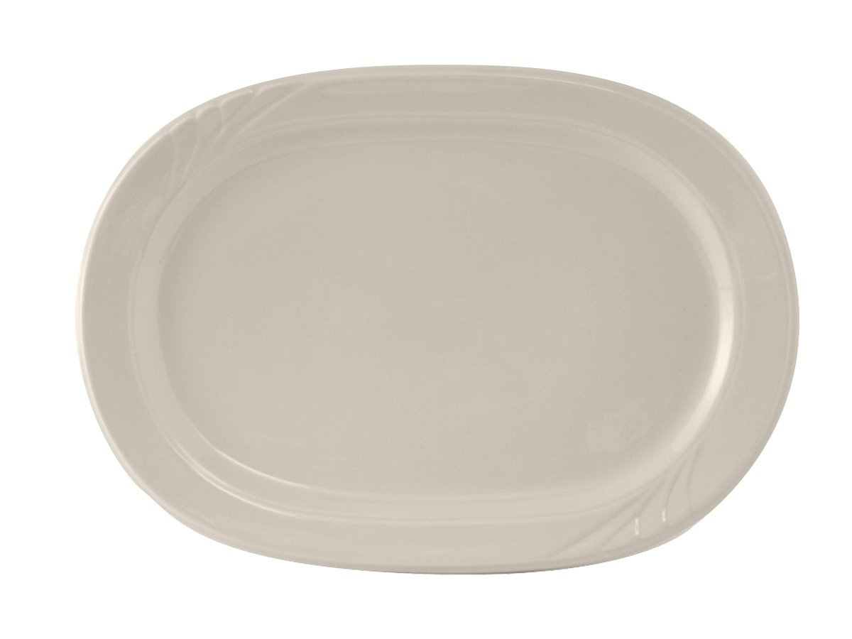 Pack of 24 , Eggshell 10-3//8 x 7-1//2 Tuxton YEH-102 Vitrified China Monterey Platter