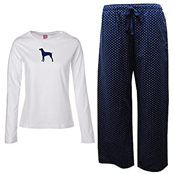 Amazon.com: German Short-Haired Pointer Ladies Flannel Pajamas ...