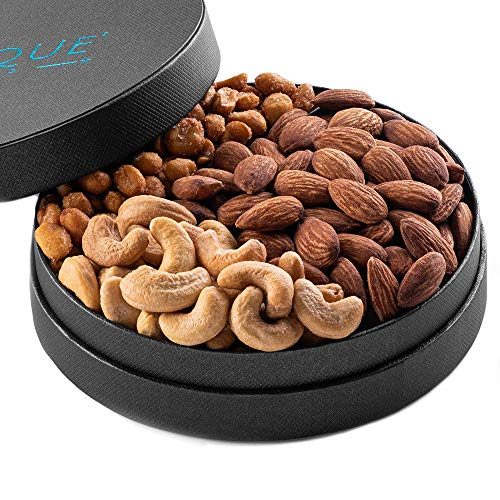 Gourmet Nut Gift Tray - Freshly Roasted Assorted Nuts for Mothers Day, Fathers Day, Holiday and Corporate Gifting