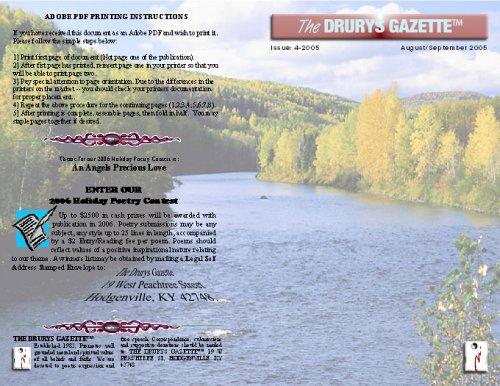Drurys Gazette Issue Four 2005