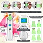 [UPGRADED]Blackhead Remover, Pore Vacuum Suction Remover,6 in 1 Facial Pore Cleanser Standable USB Rechargeable Facial Skin Treatment Beauty Tool for women men with LED Display (Green)
