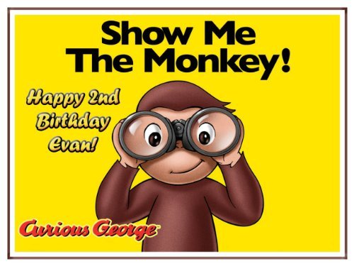 Single Source Party Supplies - Curious George Cake Edible Icing Image #6 - 8.0