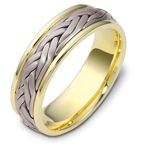 Mens 18K Two-Tone Gold, Double Braid 7MM - 18k Braid Ring Shopping Results