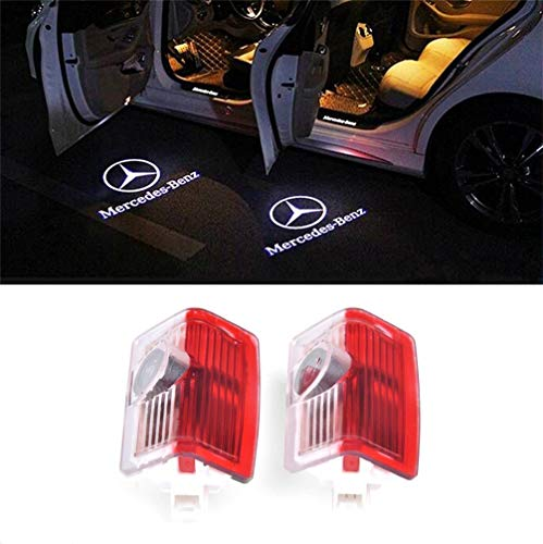 AutoPart for Mercedes-Benz M E B A C Coupe GLC GLE GLS GLA GL C Class Car Door Logo Projector Ghost Shadow Led Light -2pcs