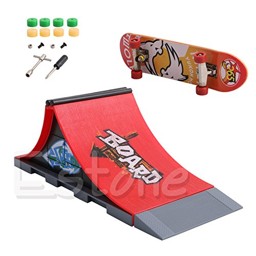 Stebcece New Skate Park Ramp Parts for Tech Deck Fingerboard Finger Board Ultimate Park (A)