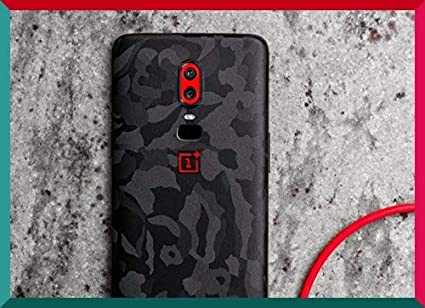 premium selection 2f4bf acd85 Smartskkins Oneplus 6 Skins for Back and Camera Skin (Black Camo)