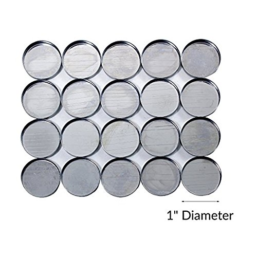 Round Empty Metal Pans for Makeup - 1' inch Diameter (20 pack) For Magnetic Palettes