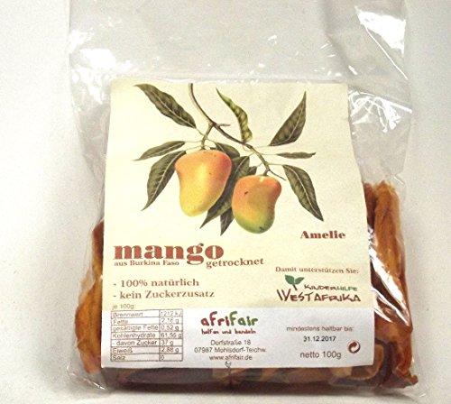 Mango, getrocknet, Amelie, Streifen, 100g, natürlich