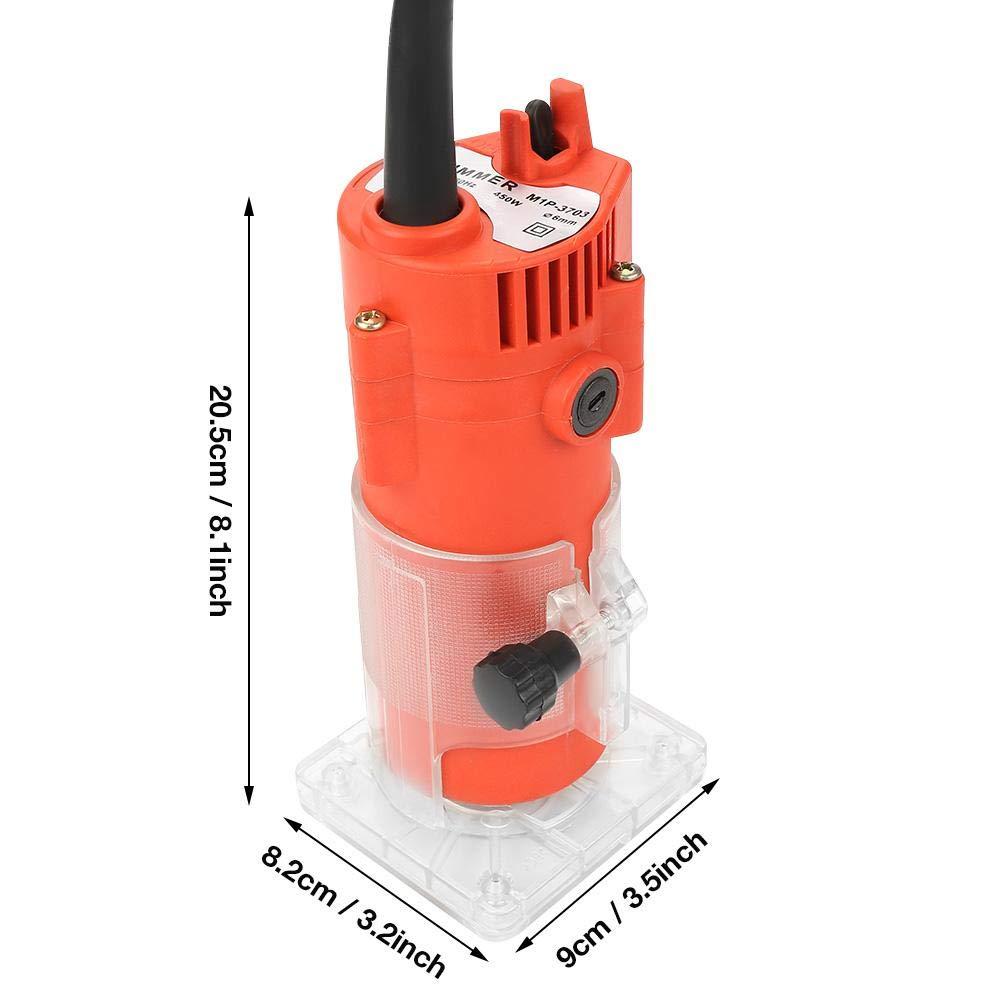 H/ölzerner elektrischer Handschneider EU-Stecker 220V 220V h/ölzerner Ordnungs-Fr/äser 6.35mm Spannzangen-Durchmesser-elektrischer Handschneider-Holzbearbeitungs-Stich-Werkzeug