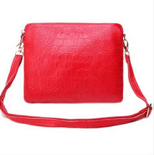 Clutch Crossbody main Femmes Purse en souple sac cuir Rouge à xCx8I4tq