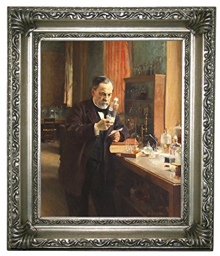 Historic Art Gallery Portrait of Louis Pasteur in His Laboratory 1885 Framed Canvas Print 8