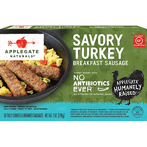 (Applegate, Natural Savory Turkey Breakfast Sausage, 7oz (Frozen))