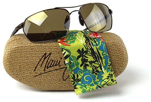 Maui Jim H324-23 MALIKO GULCH Metallic Gloss Copper Frame / Polarized HCL BRONZE - Gulch Maliko