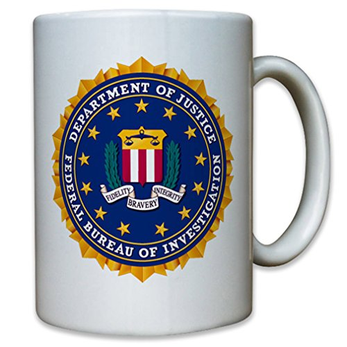 FBI Badge Crest Federal Police South Emblem - Coffee Cup Mug