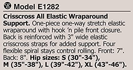 532f2f3f5e Amazon.com  Bariatric Obesity Support Belt Crisscross All Elastic  Lumbosacral Wraparound Support Back Brace (M)  Health   Personal Care