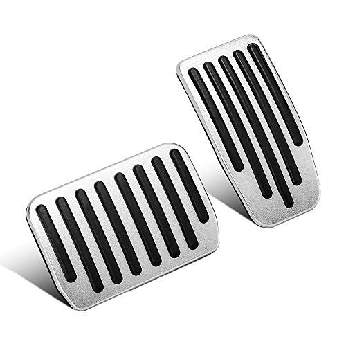 3 Accessories Performance Pedal Covers Aluminum Non-Slip Accelerator Pedals Brake Foot Pedal Pads with Rubber Handles for Easy Installation(A Set of 2) ()