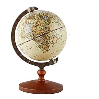 kiaotime vintage world globe antique decorative desktop globe rotating earth geography globe wooden base educational globe wedding gift5 diameter - Decorative Globe
