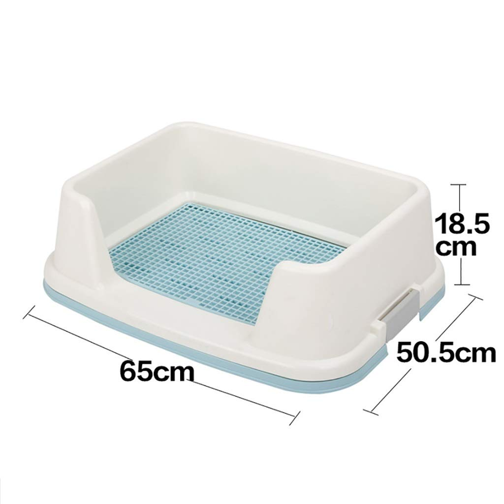 bluee L(6550cm) bluee L(6550cm) Little east Dog Toilet Pet Potty Clean Sanitary Urinal Small Dog Teddy Supplies With Fence Dog Toilet (color   bluee, Size   L(65  50cm))