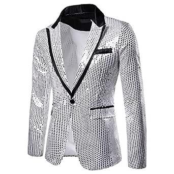 Chaqueta de traje Litale Top para hombre, monocromo, cuello en V ...