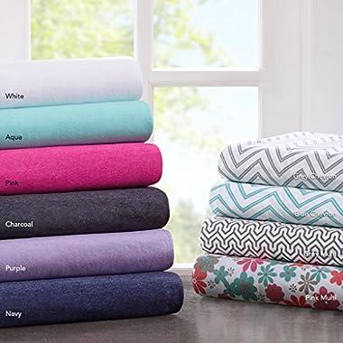 Intelligent Design ID20-713 Cotton Blend Jersey Knit Sheet Set, Full, Aqua