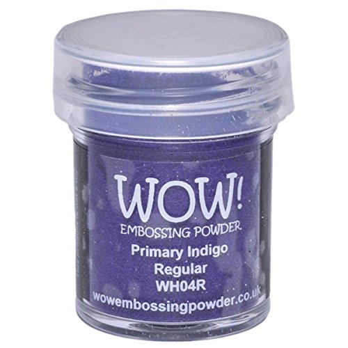 WOW!  Goffratura polvere 15ml-Indigo Wow Embossing Powder WOW-WH04R