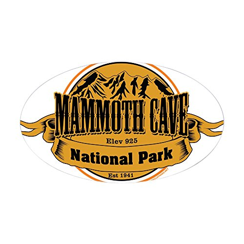 CafePress Mammoth Cave, Kentucky Sticker Oval Bumper Sticker, Euro Oval Car Decal