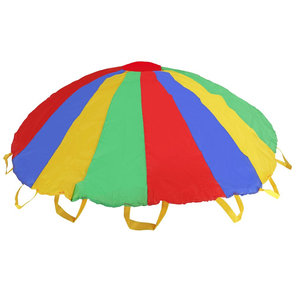 Multi-color 5 feet Parachute - Ideal Summer Sport Activity Playchute For Kids - Amazing Exerciser, Gift, Game, and more! by Toy Cubby (Image #4)