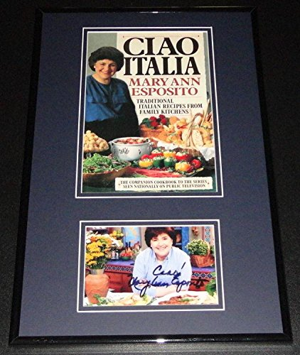 Mary Ann Esposito Signed Framed Photo & Cook Book Cover Display Ciao ()