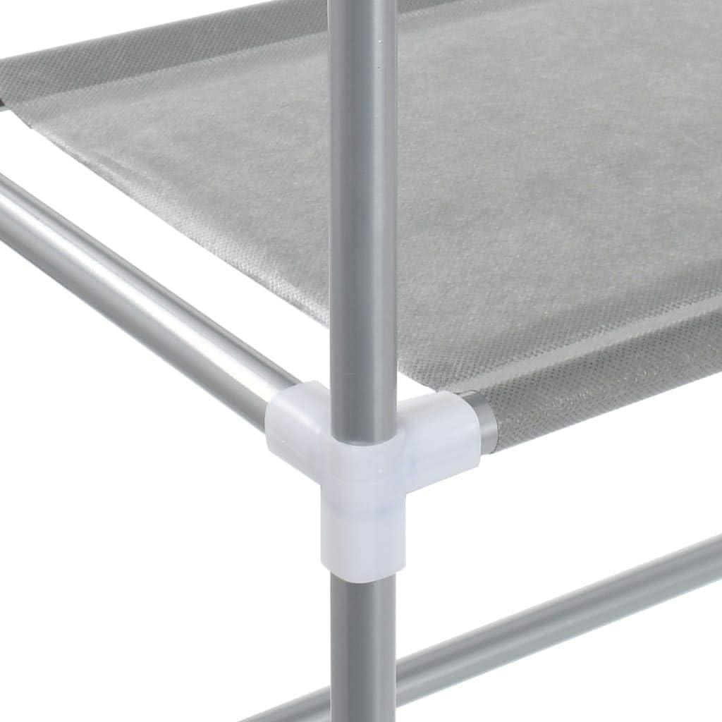 FAMIROSA Scaffale per Lavatrice con 3 Ripiani Argento 69x28x169 cm