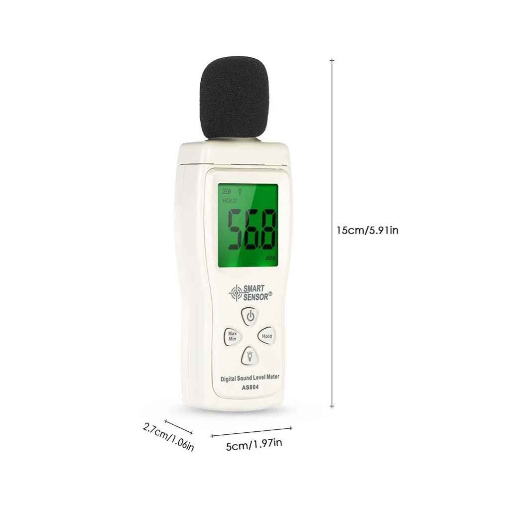DecentGadget Digital Sound Noise Level Meter 30-130 dB Noise Monitor Decibel Pressure