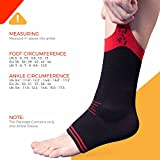 UFlex Athletics Ultra Flex Athletics Ankle Brace Support Sleeve for Post Surgery Treatment, Swelling Reduction, Pain Relief, Ankle Stabilizing and Compression, Single Wrap