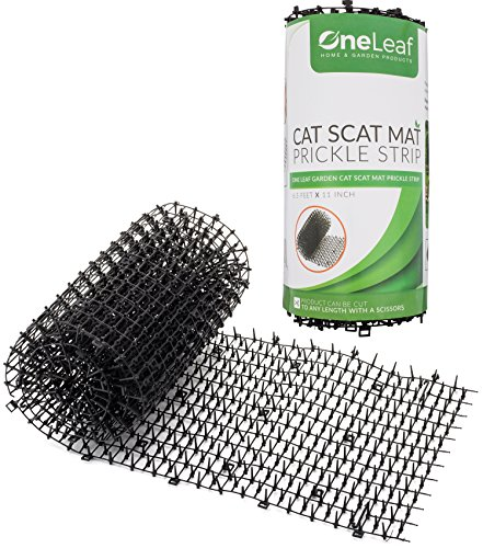 OneLeaf Garden Cat Scat Mat – Anti-cat and pest prickle strip (6.5 (Cat Stopper)