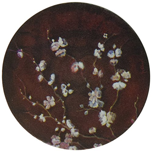 Thirstystone Cherry Blossom Drink Coaster Set with Holder, Multicolored