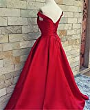 JINGDRESS Aline Prom Dresses Off The Shoulder V Neck Lace Up Evening Formal Gowns With Sash