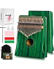 $24 » Kalimba Thumb Piano 17 Keys Bright Green - Portable Mbira Finger Piano with Music Books Gifts for Kids Adults Beginners