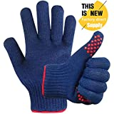 Mig4u Grill cooking heat resistant BBQ gloves - BBQ accessories Silicone oven mitts - Use as pot holders, heat trivets Forearm Protection - 1 pairs - hot pad gloves for men and women