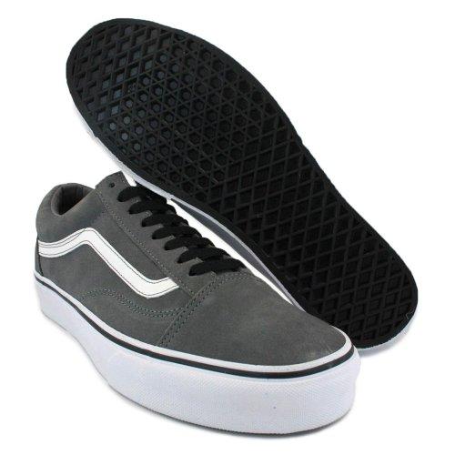 Chaussures White Skool Grey Vans Old Adulte Mixte ZEYqS68