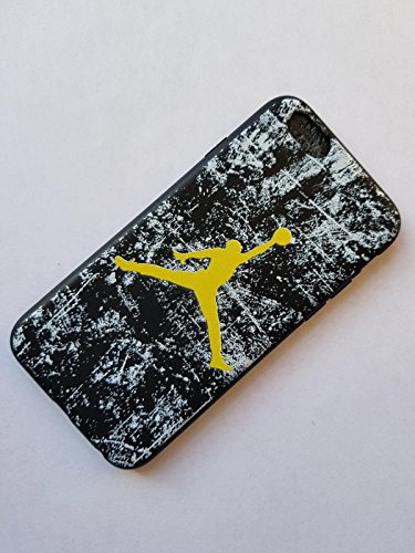 NEW AIR JORDAN LOGO JUMP SOFT PC CASE FOR APPLE IPHONE 5SE SHADE YELLOW WHITE BLACK