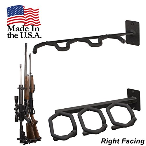 Hold Up Displays   Gun Rack And Rifle Storage Holds 3 Shotguns Or Rifles Facing Right For Winchester Remington Ruger Firearms And More   Heavy Duty Steel   Made In Usa