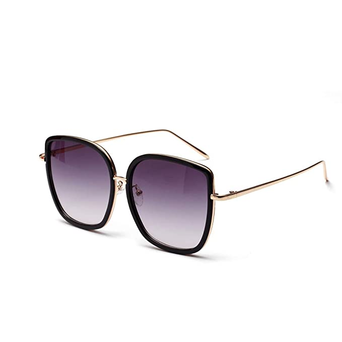 Beladla Gafas De Sol Ray Ban CláSico Moda Polarizadas Aviador Gafas De Sol De Mujer Y Hombre Puente Doble Plateado Metal Montura Reflejado Morado Lentes: ...