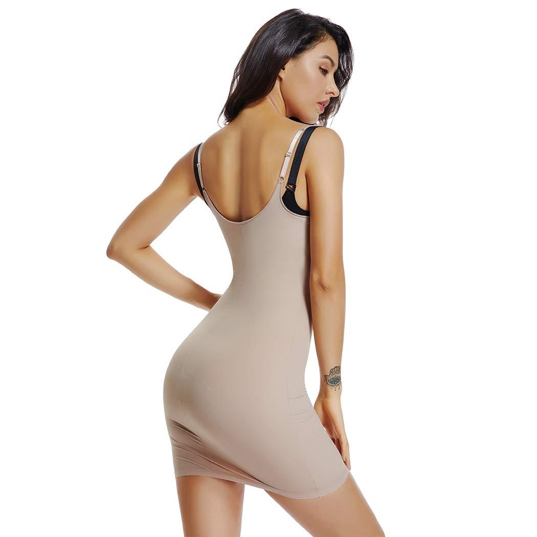 Full Slips for Under Dresses Women Tummy Control Shapewear Slip Seamless Slimming Body Shaper Slip