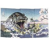 Cheap Noren Godzilla Ukiyoe Sakura no Utage Japanese Curtain Doorway Made in Japan Limited