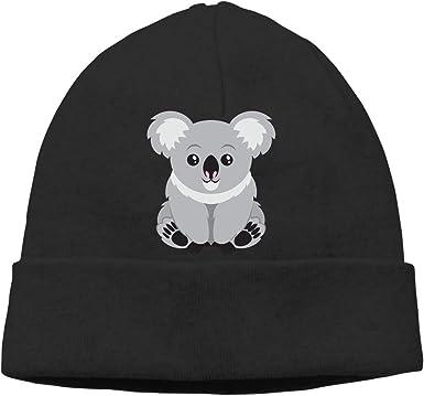 Koala Bear Skull Caps Beanie for Mens Black