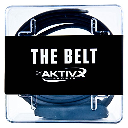 AKTIVX SPORTS Golf Belt – Voted The #1 Golf Gift of 2016 – Top Golf Clothing & Accessories for Golfers – One Size Fits All Sweat Proof, Waterproof Golf Equipment Belt (Black)