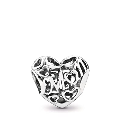 fa0b08c2d Amazon.com: PANDORA Motherly Love Charm, Sterling Silver, One Size ...